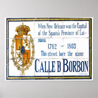 St van de bourbon de Muurschildering van de Tegel Poster