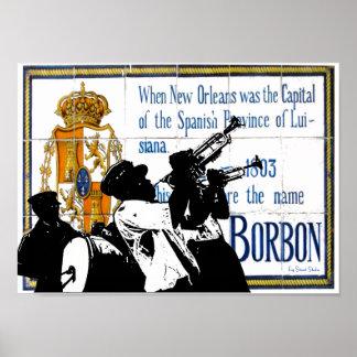 St van de Bourbon van het Fanfarekorps de Poster