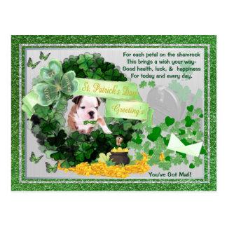 St van het Puppy van de buldog het Pasteitje u Briefkaart