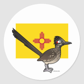 Staat Birdorable van New Mexico: Roadrunner Ronde Sticker