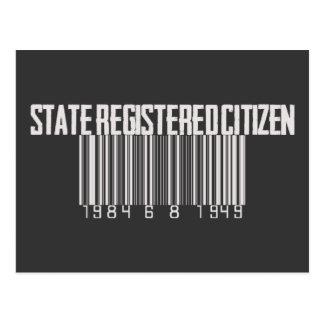 Staat Geregistreerde Burger Briefkaart