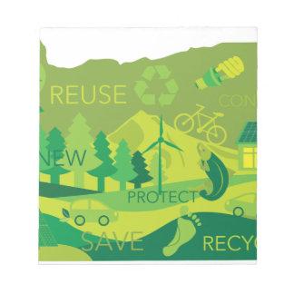Staat van het Overzicht van Eco van het Milieu van Notitieblok