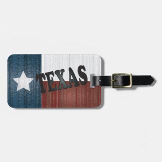 Staat | van Texas de Eenzame Staat van de Ster Kofferlabel