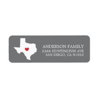 Staat | van Texas het Nieuwe Etiket van het Adres