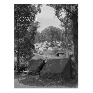 Stad 1939 van de Tent van de Staat van Iowa de Briefkaart