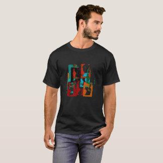 Stad. Abstract Geometrisch Ontwerp met Verwarde T Shirt