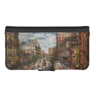Stad Cincinnati OH - de Fontein 1907 van Tyler iPhone 5 Portemonnee Hoesje