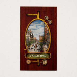 Stad Cincinnati OH - de Fontein 1907 van Tyler Visitekaartjes