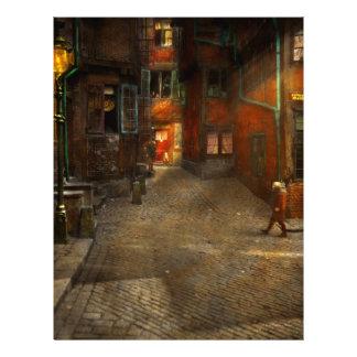 Stad - Duitsland - op een hoekstraat 1904 Flyer 21,6 X 27,9 Cm