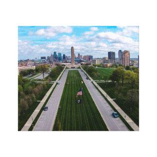 Stad Missouri van Kansas van de Vrijheid van de Canvas Print