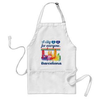 Stad van Barcelona Spanje van Wellcoda de Standaard Schort