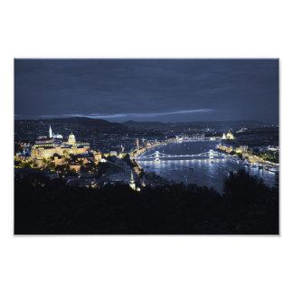 Stad van Boedapest (Hongarije) bij de Druk van de Foto Kunst