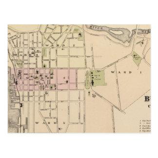 Stad van Burlington in Vermont Briefkaart