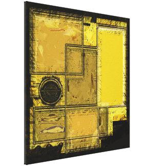 Stad van de Gouden Abstracte Druk van het Canvas