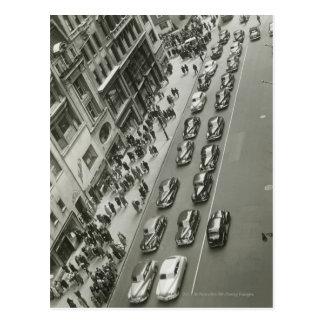 Stad van de V.S. New York New York hief uitzicht Briefkaart