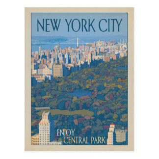 Stad | van New York Central Park Briefkaart