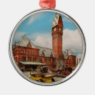 Stad - Ziek Chicago - Dearborn Post 1910 Zilverkleurig Rond Ornament