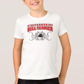 Staffordshire Bull terrier COA rode tekst T Shirt