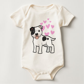 Staffordshire Bull terrier Liefde Baby Shirt