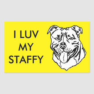 Staffordshire Bull terrier STAFFY Rechthoekige Sticker