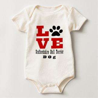 Staffordshire Bull terrier van de liefde Hond Baby Shirt
