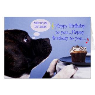 Staffordshire bull terrier verjaardagskaart wenskaart