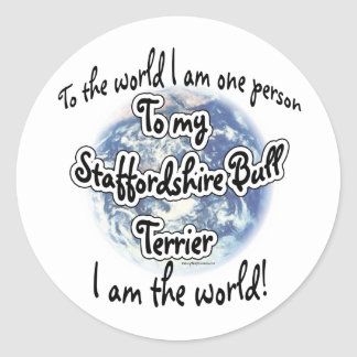 Staffordshire Terrier Wereld 2 - Sticker