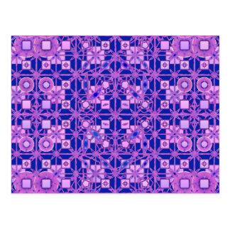 Stammen Batik - schaduwen van paars Briefkaart