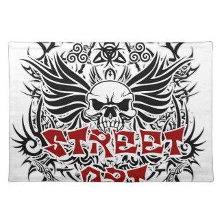 Stammen de straatart. van het tattoo placemat