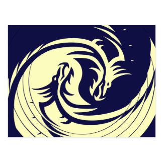 Stammen Draken Yin (Klantgericht) Yang Briefkaart
