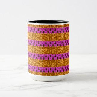 Stammen-glamour-roze-gouden-multi-stijl Tweekleurige Koffiemok