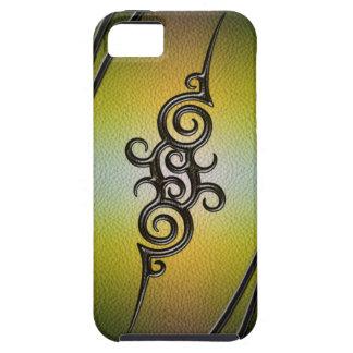 Stammen Hoesje IPhone - het gouden-Smaragdgroene
