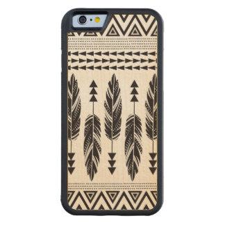 Stammen Houten iPhone 6 van de Esdoorn van Veren Esdoorn iPhone 6 Bumper Case
