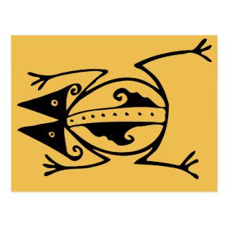 Stammen kikker oud dierlijk stammenart. briefkaart