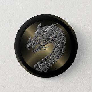 Stammen MetaalDraak Ronde Button 5,7 Cm