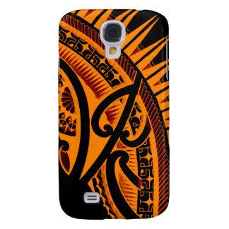 Stammen Polynesische handdrawn polyart van het Galaxy S4 Hoesje