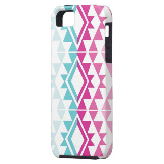 stammen roze/aqua tough iPhone 5 hoesje