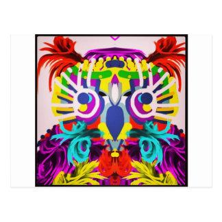 Stammen Uil met Vele Kleuren Briefkaart