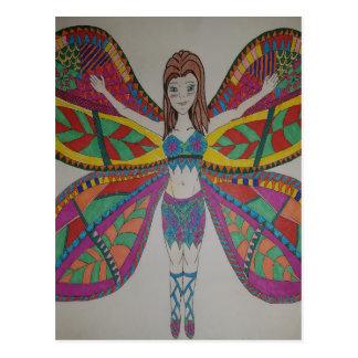 Stammen vlinderFee Briefkaart