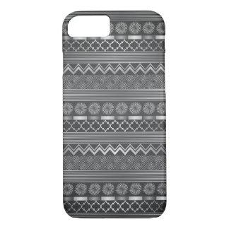 Stammen zilveren grijs patroon iPhone 7 hoesje