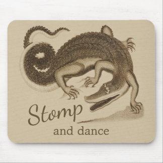 Stamp en dans Wilde gelukkige krokodil CC0895 Muismat