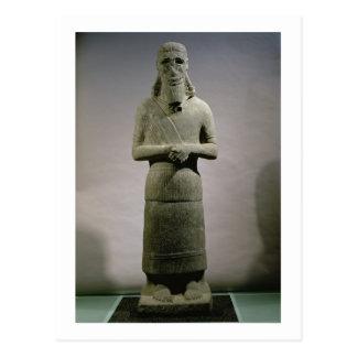 Standbeeld gewijd aan de god haddad-Yishi (basalt) Briefkaart