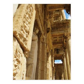Standbeeld in een Bibliotheek, Celsus Bibliotheek, Briefkaart