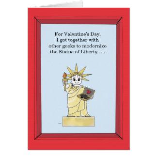 Standbeeld van Bijgewerkte Vrijheid - Valentijn Kaart