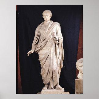 Standbeeld van Caesar Augustus Poster