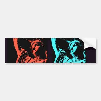 Standbeeld van de Collage van de Vrijheid Bumpersticker