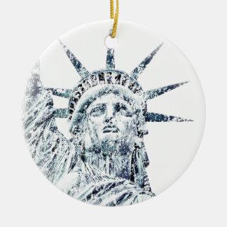 Standbeeld van de Stad van New York van de Rond Keramisch Ornament