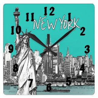 Standbeeld van de Wintertaling van New York Vierkante Klok