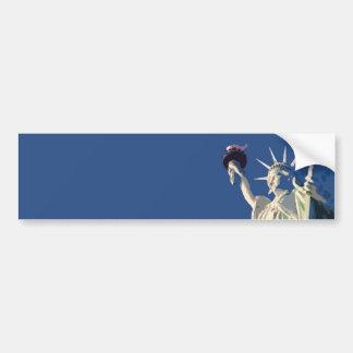 Standbeeld van het Pop-art van de Vrijheid Bumpersticker