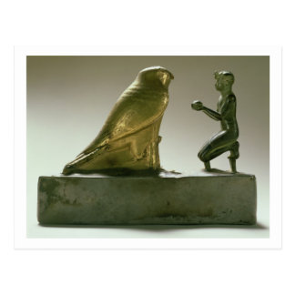 Standbeeld van Koning Taharqa die de valk-god Briefkaart